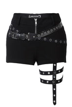 Load image into Gallery viewer, PW085 Punk rivet shorts with surround thigh design - Gothlolibeauty