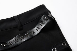 PW085 Punk rivet shorts with surround thigh design - Gothlolibeauty