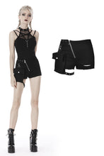 Load image into Gallery viewer, Punk irregular shorts with side bag PW107 - Gothlolibeauty