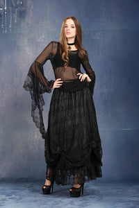 Gothic Dark poetry feel lace T-shirt TW098 - Gothlolibeauty