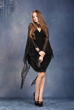 Load image into Gallery viewer, Halloween costumes gothic Black Tee/T-shirt with transparent lace long sleeves TW099 - Gothlolibeauty