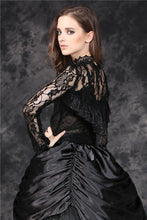 Load image into Gallery viewer, Gothic corset-look T-shirt with jacquard hollow out sexy lace TW101 - Gothlolibeauty