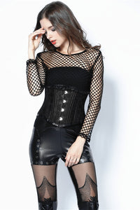 Punk sexy big grid T-shirt TW106 - Gothlolibeauty
