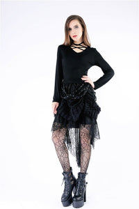 TW146 Punk knitted T-shirt with wings on back - Gothlolibeauty