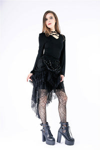 Punk knitted T-shirt with wings on back TW146 - Gothlolibeauty