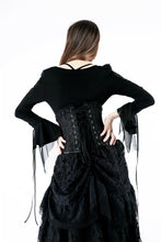 Load image into Gallery viewer, Gothic T-shirt with half mesh sexy sleeves TW148 - Gothlolibeauty