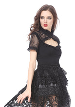 Load image into Gallery viewer, TW149 Gothic lace knitted T-shirt