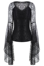 Load image into Gallery viewer, Gothic lace T-shirt with big sleeves TW150 - Gothlolibeauty