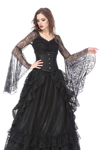 Gothic lace T-shirt with big sleeves TW150 - Gothlolibeauty