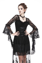 Load image into Gallery viewer, Gothic lace T-shirt with drooping flouncing sleeves TW166 - Gothlolibeauty
