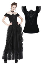Load image into Gallery viewer, Gothic knitted T-shirt with crumpled swallow shape shoulder TW167 - Gothlolibeauty