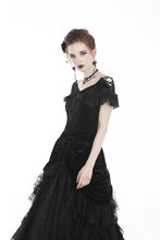 Load image into Gallery viewer, Gothic velvet short sleeves T-shirt TW185 - Gothlolibeauty