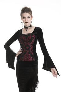 Gothic victorian Black and red T-shirt TW216 - Gothlolibeauty