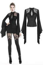 Load image into Gallery viewer, Gothic lace up lacey T-shirt TW220 - Gothlolibeauty