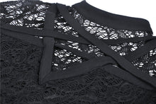 Load image into Gallery viewer, Gothic star on lace T-shirt TW249 - Gothlolibeauty