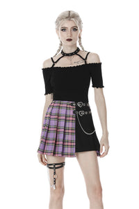 Women punk off shoulder sexy T-shirt TW284 - Gothlolibeauty