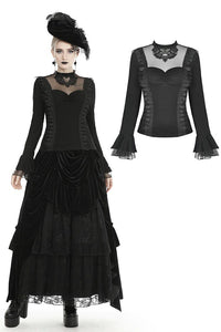 Gothic gorgeous butterfly sexy mesh collar top TW300