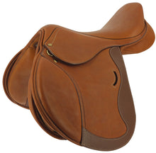 Load image into Gallery viewer, Eric Thomas 'Fitter' Jump Saddle Lined Leather