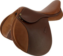 Load image into Gallery viewer, Eric Thomas 'Fitter' Jump Saddle Grained Leather
