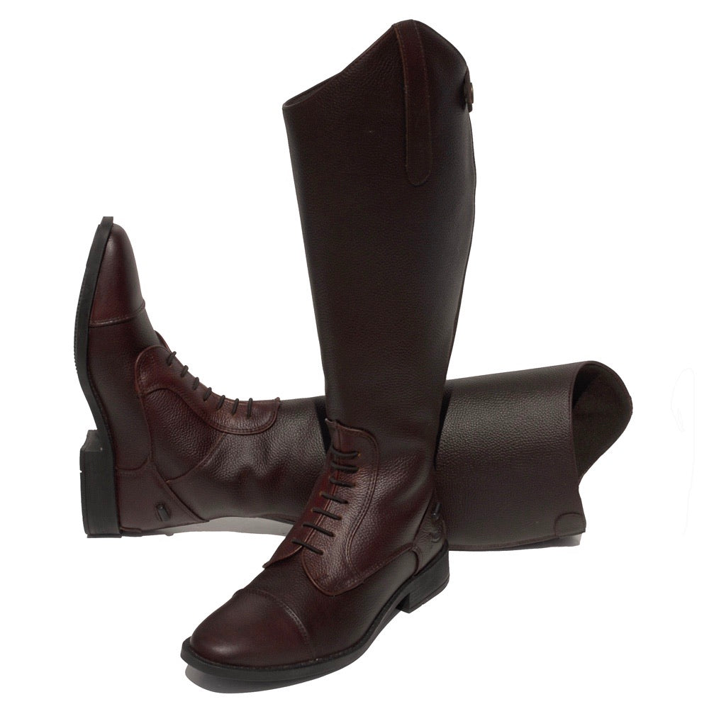 Rhinegold Elite Luxus Wide Leg Leather Riding Boot
