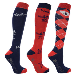 Hy Equestrian Thelwell Collection Socks (Pack of 3)