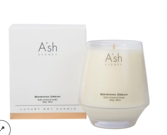Ash Glass Candles Bohemian Dream