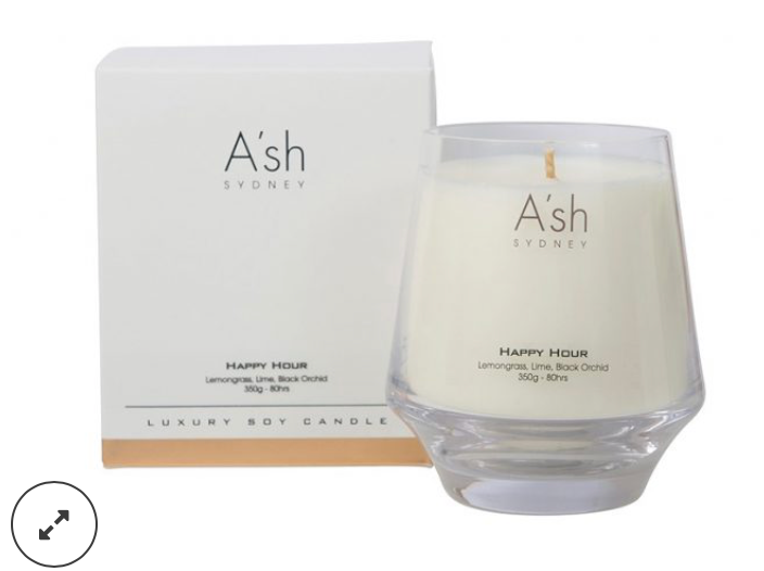 Ash Glass Candles Happy Hour