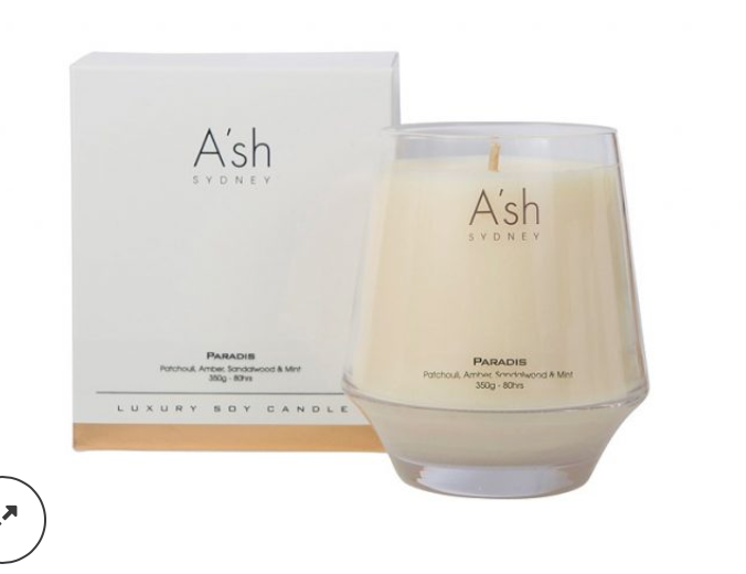 Ash Glass Candles Paradise