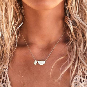 By Charlotte Lotus and little buddha necklace Silver