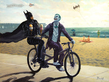 "Load image into Gallery viewer, ""Summertime in Gotham"" by Artist Bucket - PAPER & CANVAS AVAILABLE"