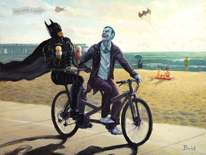 """Summertime in Gotham"" by Artist Bucket - PAPER & CANVAS AVAILABLE"