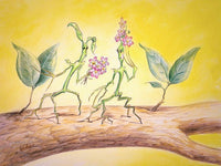 """BLUSHING BOWTRUCKLES"" by artist Gadget - PAPER & CANVAS AVAILABLE"