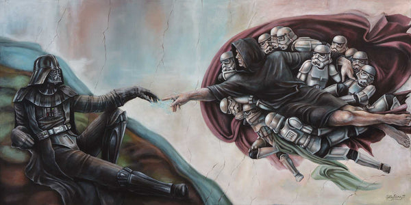 Creation of Vader Original Painting by Ashley Raine