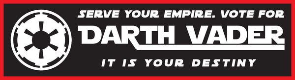 Vote Darth Vader Bumper Sticker