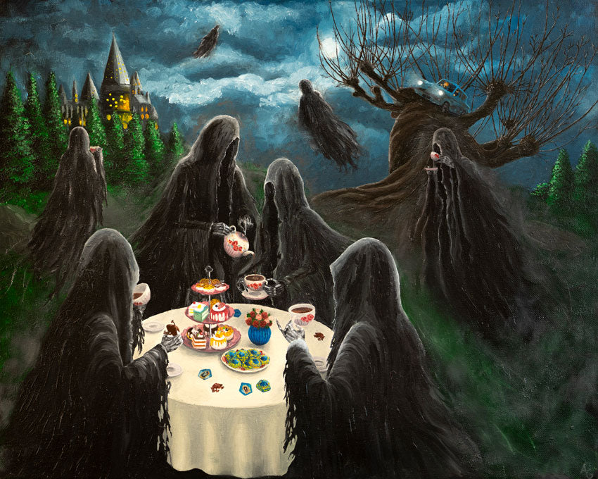 Dementor Tea Party Original Acryllic Painting by Anastasiia G