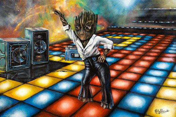 Disco Groot by Ashley Raine