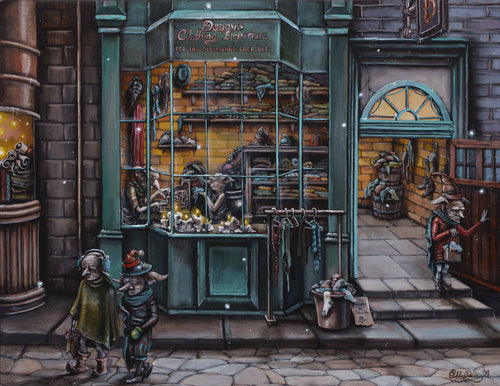 Dobby's Clothing Emporium Original Painting by Ashley Raine