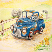 Farmer Fiffles by artist Gadget - PAPER & CANVAS AVAILABLE