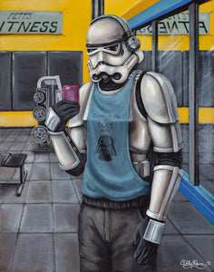 """Fett's Fitness"" By Ashley Raine - PAPER & CANVAS AVAILABLE"