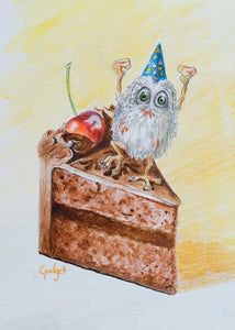 """A BIRTHDAY FIFFLE"" by artist Gadget - PAPER & CANVAS AVAILABLE"