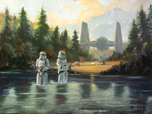 "Load image into Gallery viewer, ""Stormtroopers Get Schooled"" by Artist Bucket - PAPER & CANVAS AVAILABLE"