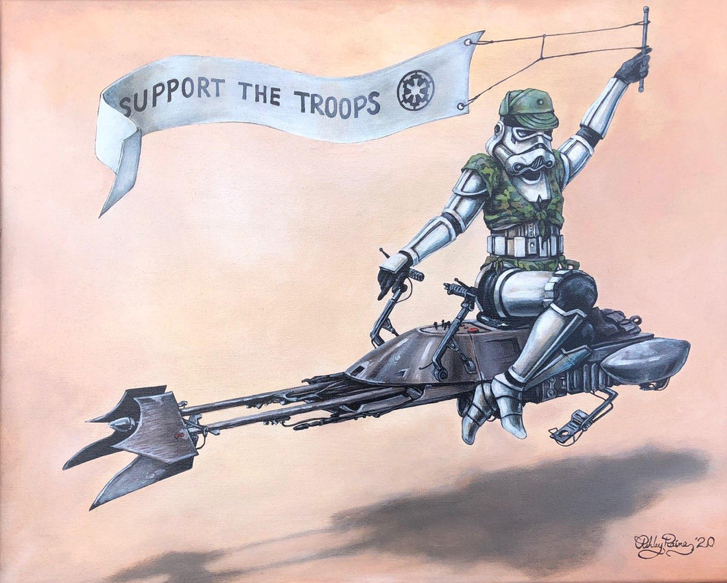 Support the Troops by Ashley Raine PAPER & CANVAS AVAILABLE