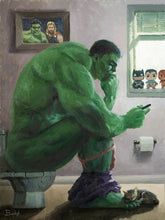 "Load image into Gallery viewer, ""Hulk Splash"" by Artist Bucket - PAPER & CANVAS AVAILABLE"