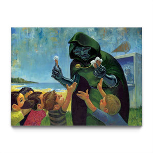 """Parlor Tricks for the Rabbie"" by Aaron Jasinski - Framed Art Block"