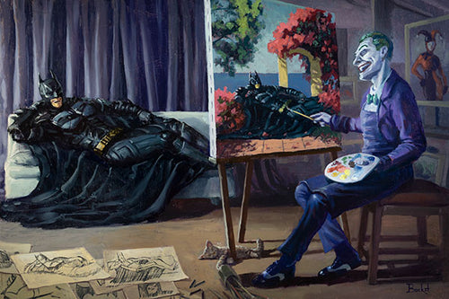 Joker Painting Batman By Artist Bucket