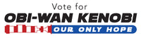 Vote Obi Wan Kenobi Bumper Sticker
