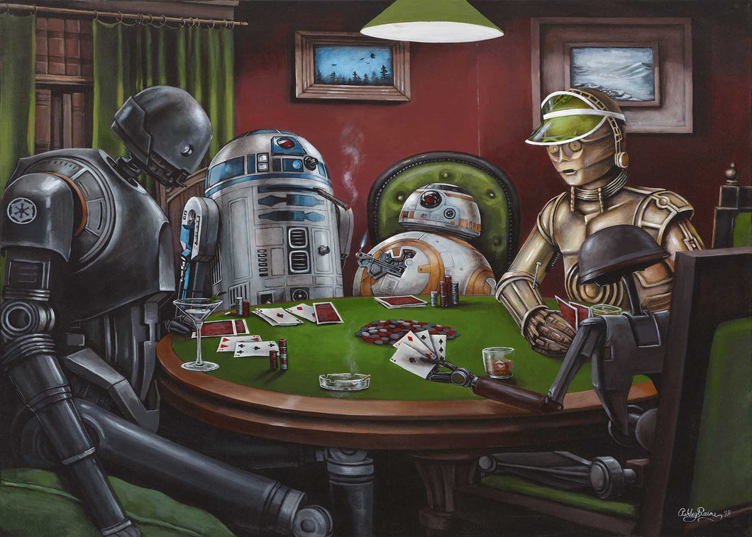 Poker Droids Original by Ashley Raine