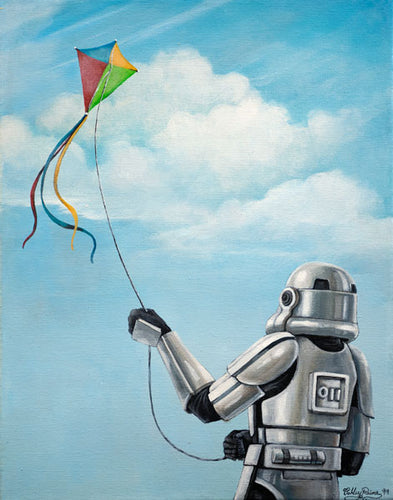 Stormtrooper's Day Off Original Painting by Ashley Raine