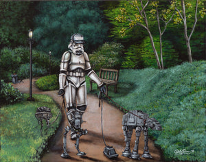 """Imperial Walker"" by Ashley Raine - PAPER & CANVAS AVAILABLE"
