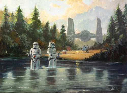 Stormtroopers Getting Schooled Original by Bucket SOLD!